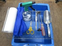 菌床ブロックを詰めるのに必要な道具